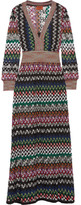 Missoni Metallic Crochet-knit Maxi Dress - IT48
