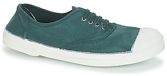 Bensimon TENNIS LACET women's Shoes (Trainers) in Green