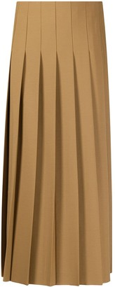 Joseph Asymmetric Pleat Calf-Length Skirt