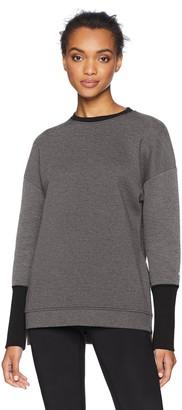 Core 10 Amazon Brand Women's Motion Tech Fleece Relaxed Fit Long Sleeve Crew Sweatshirt