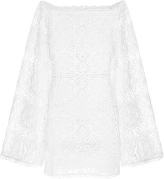 Alice McCall Diamond Veins Corded Lace Mini Dress