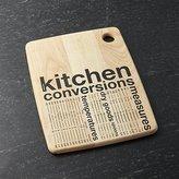 Crate & Barrel Kitchen Conversion Cutting Board