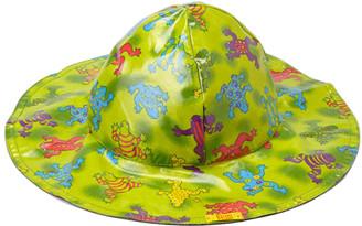 Pluie Pluie Women's Winter Hats Frog - Green Frog Rain Hat
