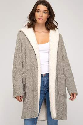 She + Sky Fleece Pocket Coat