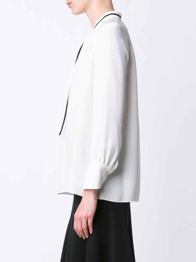 Derek Lam Long Sleeve Blouse With Front Ties