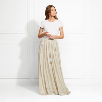 Rachel Zoe Jones Metallic Pleated Maxi Skirt