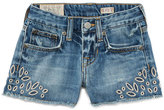 Ralph Lauren Denim Cutoff Eyelet Shorts, Blue, Size 5-6X