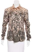 Jean Paul Gaultier Printed Silk Top