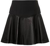 Tibi Leather Flirty Skirt