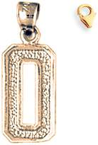 JewelsObsession Gold-Plated 925 Sterling Silver 20mm Zero, 0 Charm w/ Lobster Clasp