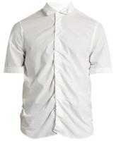 Marni Gathered Short-sleeved Cotton Shirt