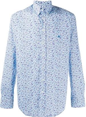 Etro Floral Print Long-Sleeved Shirt