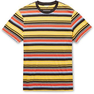 Orlebar Brown Sammy Striped Cotton And Linen-Blend T-Shirt