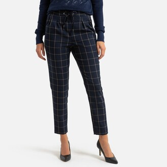 """Anne Weyburn Checked Peg Trousers, Length 26.5"""""""