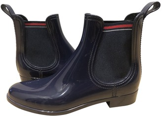 Gucci Blue Rubber Ankle boots