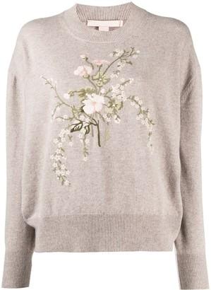 Brock Collection Floral Print Round-Neck Sweatshirt