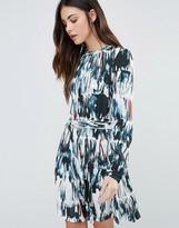Minimum Printed Long Sleeve Skater Dress
