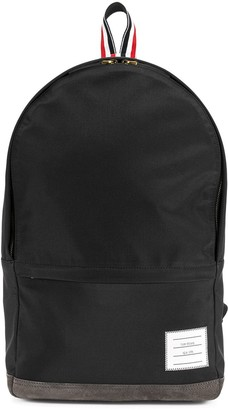 Thom Browne Unstructured Backpack In Nylon And Suede