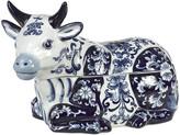 Pols Potten Porcelain Cow Cookie Jar - Blue