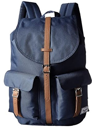 Herschel Dawson (Navy/Tan Synthetic Leather) Bags