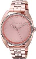 Michael Kors Women's Libby MK3677 Rose- Stainless-Steel Quartz Fashion Watch