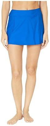 Maxine Of Hollywood Swimwear Solids Separate Waist Band Skort Bottoms (Cobalt) Women's Swimwear