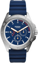 Fossil Men's Chronograph Sport 54 Blue Silicone Strap Watch 44mm CH3062