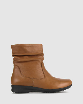 Airflex Women's Short Boots - Cross Leather Ankle Boots - Size One Size, 6 at The Iconic