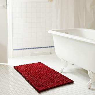 Rt Designers Collection Cali 20 x 32 in. High Pile Chenille Bath Mat in Burgundy