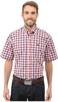 Cinch Short Sleeve Plain Weave Plaid