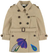 Burberry Baby Girl Trenchcoat - Heritage Line - Sandringham range with fancy patches