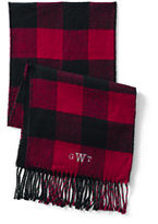 Classic Men's CashTouch Plaid Scarf 2-Ply-Slate Heather