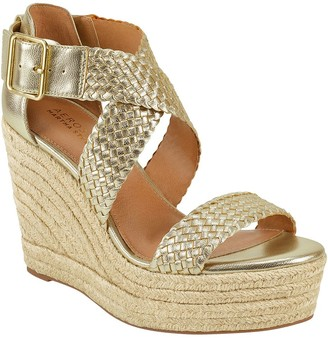 Aerosoles Leather Platform Wedge Sandals -Kathy