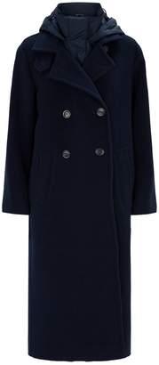 Max Mara Wool Coat with Gilet