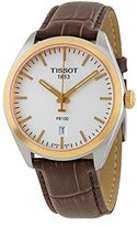 Tissot Men's Quartz Stainless Steel Casual Watch, Color:Brown (Model: T1014102603100)