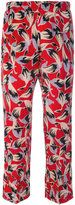 No.21 printed cropped trousers - women - Silk - 38