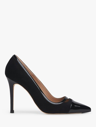 LK Bennett Frankie Suede Court Shoes, Black