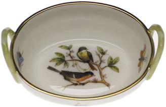 Herend Rothschild Bird Small Basket with Handles