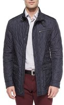 Salvatore Ferragamo Quilted Barn Coat, Navy