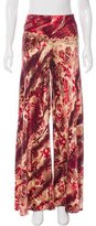 Roberto Cavalli High-Rise Silk Pants