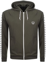 Fred Perry Taped Hooded Track Top Green