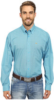 Cinch Long Sleeve Plain Weave Print Shirt