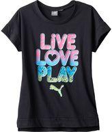 """Puma Girls 7-16 Live Love Play"""" Tee"""