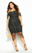 City Chic Jewel Dream Dress - black