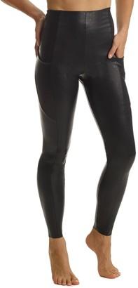 Commando Faux Leather Pocket Leggings
