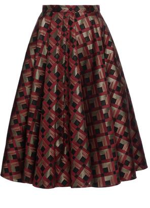 Lena Hoschek Maisir Pleated Jacquard Full Skirt