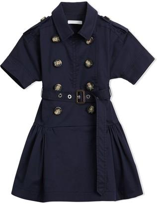 BURBERRY KIDS Stretch Cotton Trench Dress
