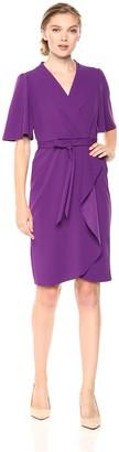 Donna Morgan Women's Crepe Faux Wrap Dress