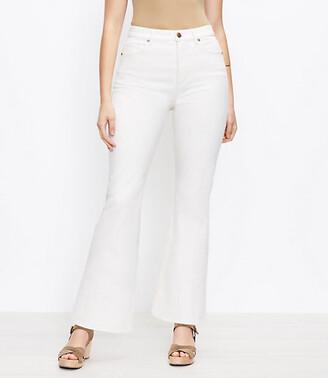 LOFT The High Waist Sandal Flare Jean in Natural White