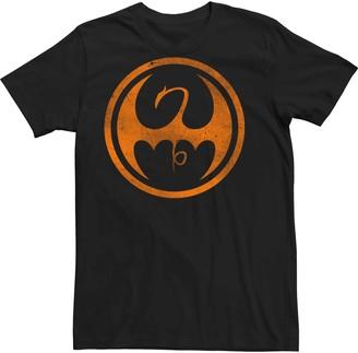Iron Fist Juniors' Marvel's Orange Dragon Symbol Tee